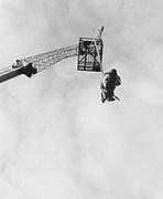 Bungee jumping at a Rock and Blues festival