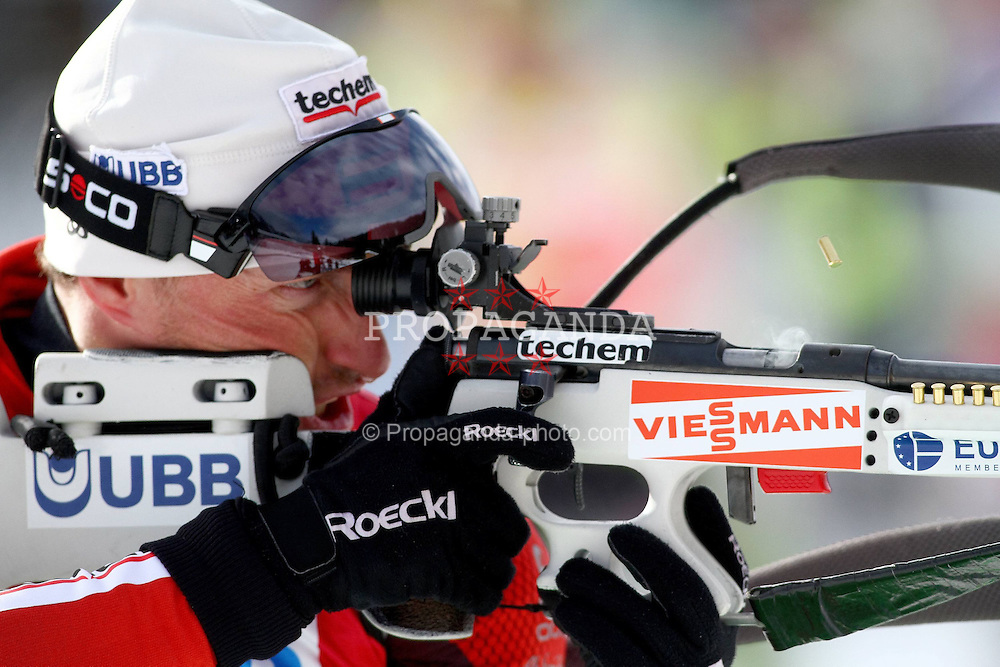 10.12.2011, Biathlonzentrum, Hochfilzen, AUT, E.ON IBU Weltcup, 2. Biathlon, Hochfilzen, Verfolgung Herren, im Bild Kletcherov Michail (BUL) // during E.ON IBU World Cup 2th Biathlon, Hochfilzen, Austria on 2011/12/10. EXPA Pictures © 2011. EXPA Pictures © 2011, PhotoCredit: EXPA/ nph/ Straubmeier..***** ATTENTION - OUT OF GER, CRO *****