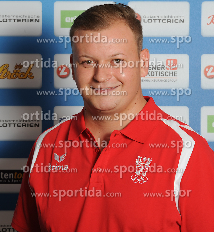 17.07.2016, Hotel Mariott, Wien, AUT, Olympia, Rio 2016, Einkleidung OeOC, im Bild Schmirl Alexander ((Schiessen) // during the outfitting of the Austrian National Olympic Committee for Rio 2016 at the Hotel Mariott in Wien, Austria on 2016/07/17. EXPA Pictures © 2016, PhotoCredit: EXPA/ Erich Spiess