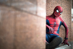 © Licensed to London News Pictures . 30/07/2017 . Manchester , UK . Spiderman . Cosplayers, families and guests at Comic Con at the Manchester Central Convention Centre . Photo credit : Joel Goodman/LNP