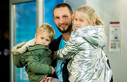 Tim Matavz of Slovenia with his children after the football match between National Teams of Slovenia and Scotland of Fifa 2018 World Cup European qualifiers, on October 8, 2017 in SRC Stozice, Ljubljana, Slovenia. Photo by Vid Ponikvar / Sportida