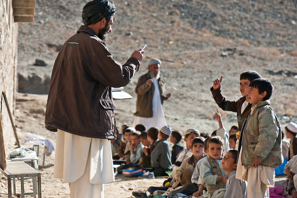 An Afghan village school in the Tangi Valley.