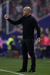 April 27, 2018 - Valencia, Valencia, Spain - Paco Lopez head coach of Levante UD reacts during the La Liga game between Levante UD and Sevilla FC at Ciutat de Valencia on April 27, 2018 in Valencia, Spain  (Credit Image: © David Aliaga/NurPhoto via ZUMA Press)