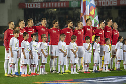 November 20, 2018 - Guimaraes, Portugal - The Polish national football team during the UEFA Nations League A Group 3 match between Portugal and Poland at Estadio D. Afonso Henriques in Guimaraes, Portugal on November 20, 2018  (Credit Image: © Andrew Surma/NurPhoto via ZUMA Press)