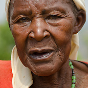 Generose, an elderly woman in Rulindo District,  Rwanda.