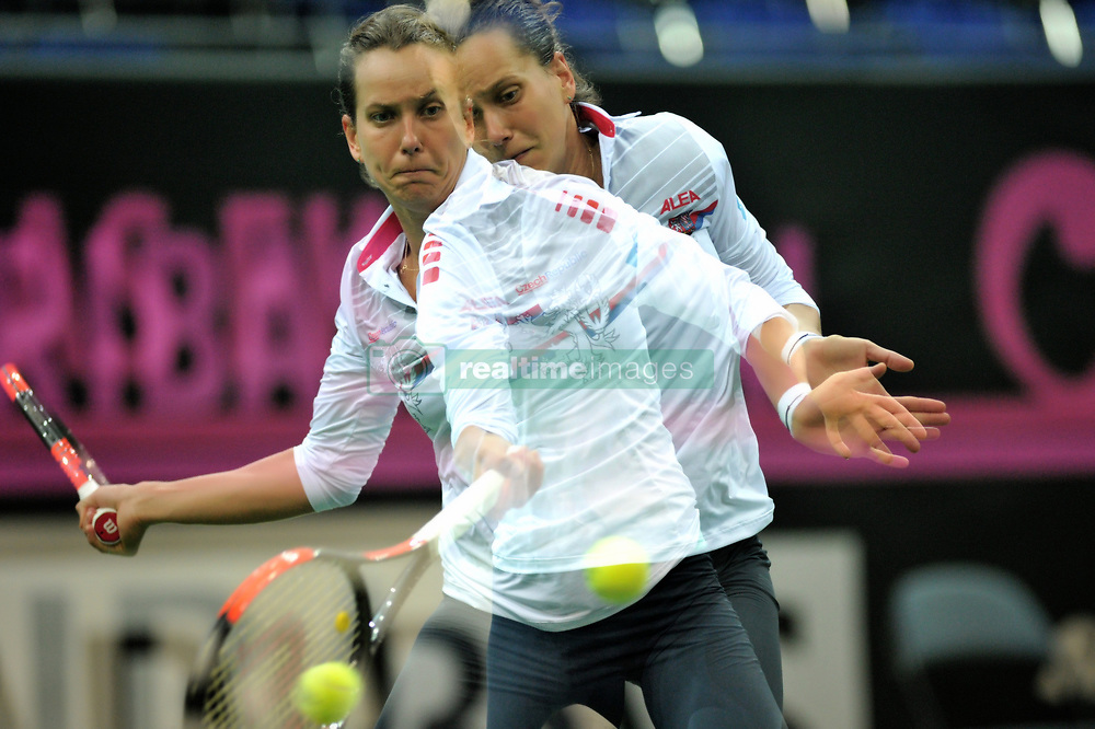 November 8, 2018 - Prague, Czech Republic - Features with multiple exposure Barbora Strycova of the Czech Republic during practice ahead of the 2018 Fed Cup Final between the Czech Republic and the United States of America in Prague in the Czech Republic. The Czech Republic will face United States in the Tennis Fed Cup World Group on 10 and 11 November 2018. (Credit Image: © Slavek Ruta/ZUMA Wire)