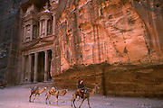 Petra Treasury and camel rider