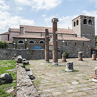 The roman ruins of San Giusto in Trieste, Italy