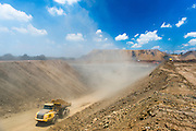 Earth moving truck working at the Usutu Mine