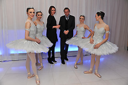 KEELEY HAWES, PHILIP GLENISTER and ENB Dancers at the pre party for the English National Ballet's Christmas performance of The Nutcracker held at the St.Martin's Lane Hotel, St.Martin's Lane, London on 14th December 2011.
