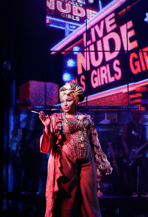 """Teresa Stanley as """"Justice"""" in.ROCK of AGES .Credit photo: © Paul Kolnik.paul@paulkolnik.com.nyc  212-362-7778"""