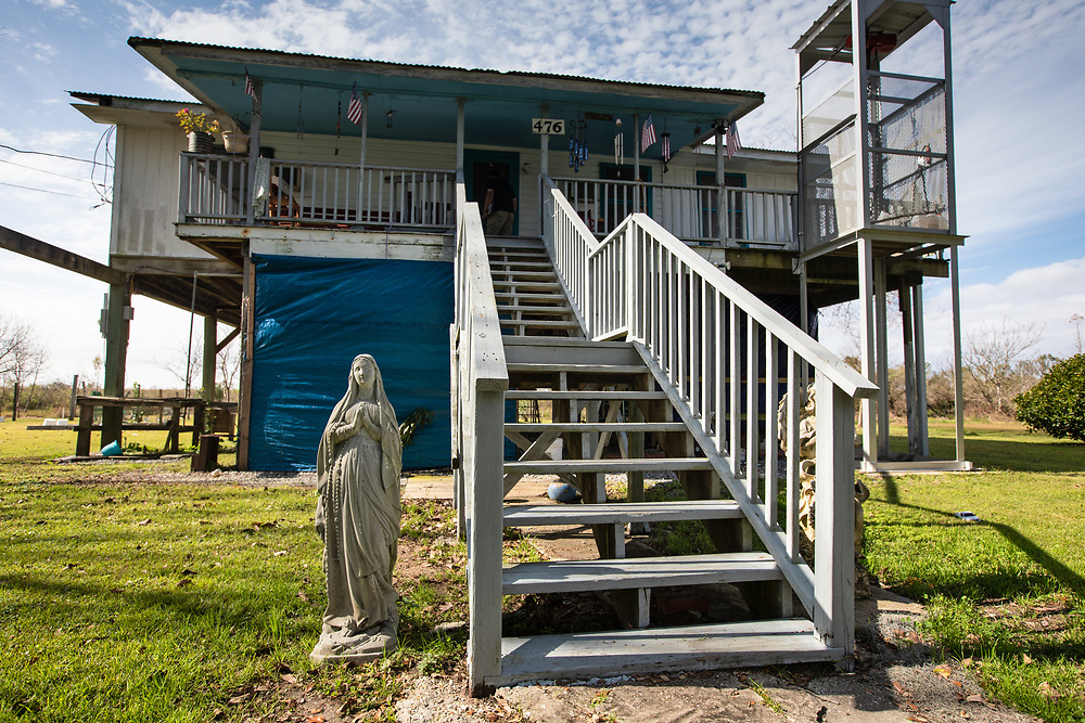Denecia Naquin Billiot's home on the Isle de Jean Charles in Louisiana.