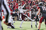 LITTLE ROCK, ARKANSAS - NOVEMBER 23:  Taylor Earhart #40 of the Mississippi State Bulldogs kicks a field goal against the Arkansas Razorbacks at War Memorial Stadium on November 23, 2013 in Little Rock, Arkansas.  The Bulldogs defeated the Razorbacks 24-17.  (Photo by Wesley Hitt/Getty Images) *** Local Caption *** Taylor Earhart