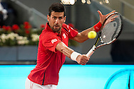 Novak Djokovic during the Madrid Open at Manzanares Park Tennis Centre, Madrid<br /> Picture by EXPA Pictures/Focus Images Ltd 07814482222<br /> 07/05/2016<br /> ***UK &amp; IRELAND ONLY***<br /> EXPA-ESP-160507-0010.jpg