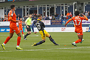 Oxford United midfielder Marcus Browne (10) shoots during the EFL Sky Bet League 1 match between Luton Town and Oxford United at Kenilworth Road, Luton, England on 4 May 2019.