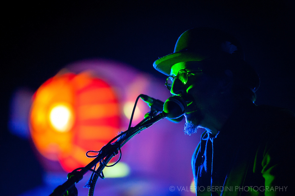 Les Claypool of Primus live on stage at the Brixton Academy in London on 13 Jul 2011