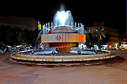 A night shot of Agam?s fountain at Dizengoff circle, Tel Aviv, Israel November 2005
