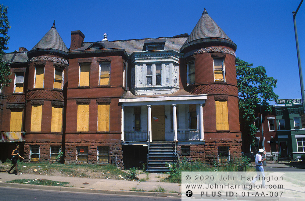 Poverty and dilapidated scenes of North East Washington DC.