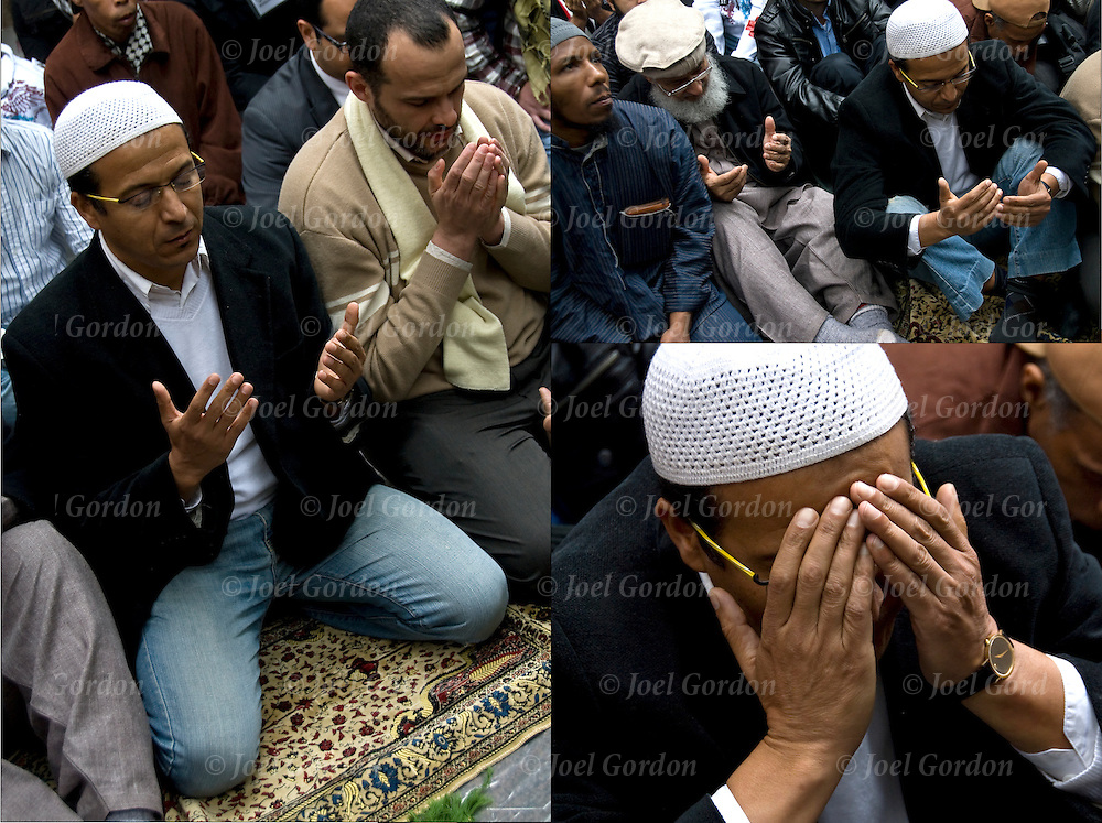 Friday prayer, or &quot;Jummah&quot; at 1 p.m. in Zuccotti Park with Occupy Wall Street. <br />