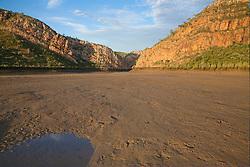 Low tide reveals an extensive sandbank in Cyclone Creek, Talbot Bay on the Kimberley coast.