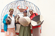 Weavers show products developed through the iSimangaliso craft program