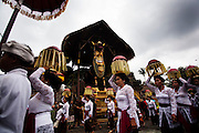 Ubud communities come to bring some offering to respect the death on Pelebon ceremony of Anak Agung Niang Rai of Puri Agung Ubud, The wife of King Of Ubud. Pelebon Ceremony or  Ngaben ceremony is a ceremony to purify and return the  five element of the universe that form the life itself in human body to the universe