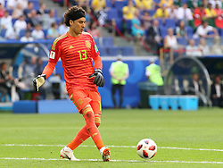 July 2, 2018 - Samara, Russia - July 2, 2018, Russia, Samara, FIFA World Cup 2018, 1/8 finals. Football match of Brazil - Mexico at the stadium Samara - Arena. Player of the national team Guillermo Ochoa  (Credit Image: © Russian Look via ZUMA Wire)