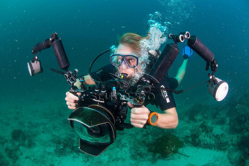 Underwater Photographer, Mabul, Sabah, Malaysia, Borneo, Celebes Sea,