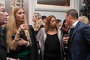 DAME MARJORIE SCARDINO; LAURA BAILEY; DAME ZAHA HADID, The Veuve Clicquot Business Woman Of The Year Award, celebrating women's excellence in business and commitment to sustainability. Claridge's, Brook Street, London, 22 April 2013