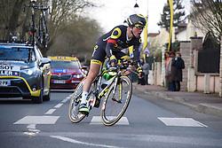06.03.2016, Conflans-Sainte-Honorine, FRA, Paris Nizza, Prolog, im Bild voeckler thomas fra // during the Prolog of Paris-Nice Cycling Tour at Conflans-Sainte-Honorine, France on 2016/03/06. EXPA Pictures © 2016, PhotoCredit: EXPA/ Pressesports/ PAPON BERNARD<br /> <br /> *****ATTENTION - for AUT, SLO, CRO, SRB, BIH, MAZ, POL only*****
