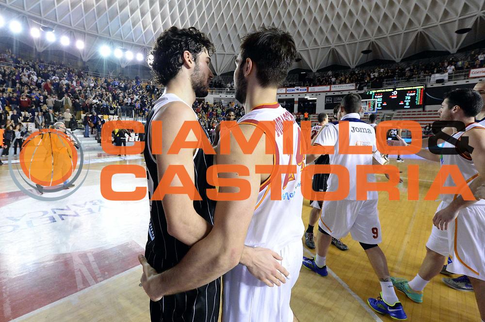 DESCRIZIONE : Roma Lega serie A 2013/14 Acea Virtus Roma Pasta Reggia Caserta<br /> GIOCATORE : Riccardo Moraschini<br /> CATEGORIA : Fairplay<br /> SQUADRA : Acea Roma<br /> EVENTO : Campionato Lega Serie A 2013-2014<br /> GARA : Acea Virtus Roma Pasta Reggia Caserta<br /> DATA : 23/02/2014<br /> SPORT : Pallacanestro<br /> AUTORE : Agenzia Ciamillo-Castoria/GiulioCiamillo<br /> Galleria : Lega Seria A 2013-2014<br /> Fotonotizia : Roma Lega serie A 2013/14 Acea Virtus Roma Pasta Reggia Caserta<br /> Predefinita :