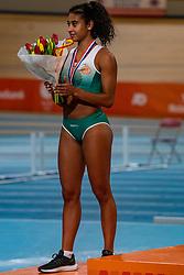 Killiana Heymans second on pole vault during the Dutch Indoor Athletics Championship on February 23, 2020 in Omnisport De Voorwaarts, Apeldoorn