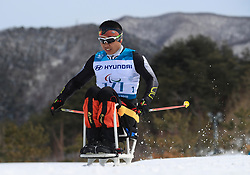 China's Peng Zheng competes in the Men's 7.5km, Sitting Cross Country Skiing, at the Alpensia Biathlon Centre during day eight of the PyeongChang 2018 Winter Paralympics in South Korea