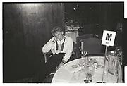 Robbie Burton asleep at the Rose Ball. Grosvenor House. 17 May 1984.
