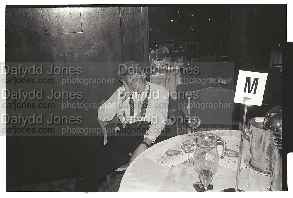 Robbie Burton asleep at the Rose Ball. Grosvenor House. 17 May 1984.