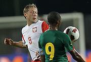 SZCZECIN 11/08/2010.FOOTBALL INTERNATIONAL FRIENDLY.POLAND v CAMEROON.RAFAL MURAWSKI /POL/ I SAMUEL ETO'O /CAM/.Fot: Piotr Hawalej / WROFOTO