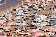 Crowds on Elli Beach in July, Rhodes Town, Rhodes, Dodecanese Islands, Greece