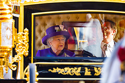 Carriages arrive at Buckinham Palace as Her Majesty The Queen welcomes His Majesty Willem-Alexander of the Netherlands, accompanied by Her Majesty Queen Maxima, at the start of their State Visit to the United Kingdom. London, October 23 2018.