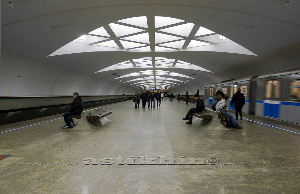Russia, Moscow, Underground Metro Station