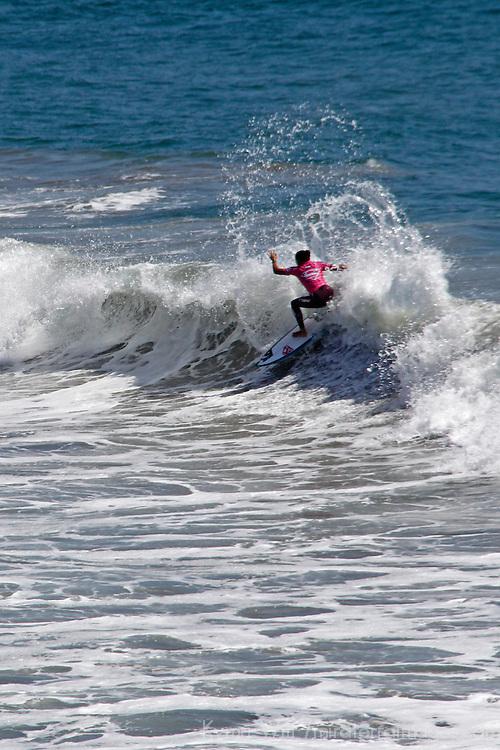 Malia Manuel SuperGirl Pro winner, Oceanside, California.
