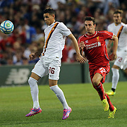 Antonio Sanabria, AS Roma, in action during the Liverpool Vs AS Roma friendly pre season football match at Fenway Park, Boston. USA. 23rd July 2014. Photo Tim Clayton