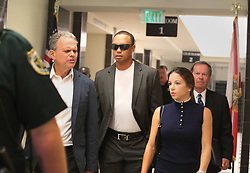 Golfer Tiger Woods leaves the North County Courthouse in Palm Beach Gardens, FL, USA, Friday Oct. 27, 2017 to plead guilty to a second-degree misdemeanor reckless driving charge. Photo by Carline Jean/Sun Sentinel/TNS/ABACAPRESS.COM