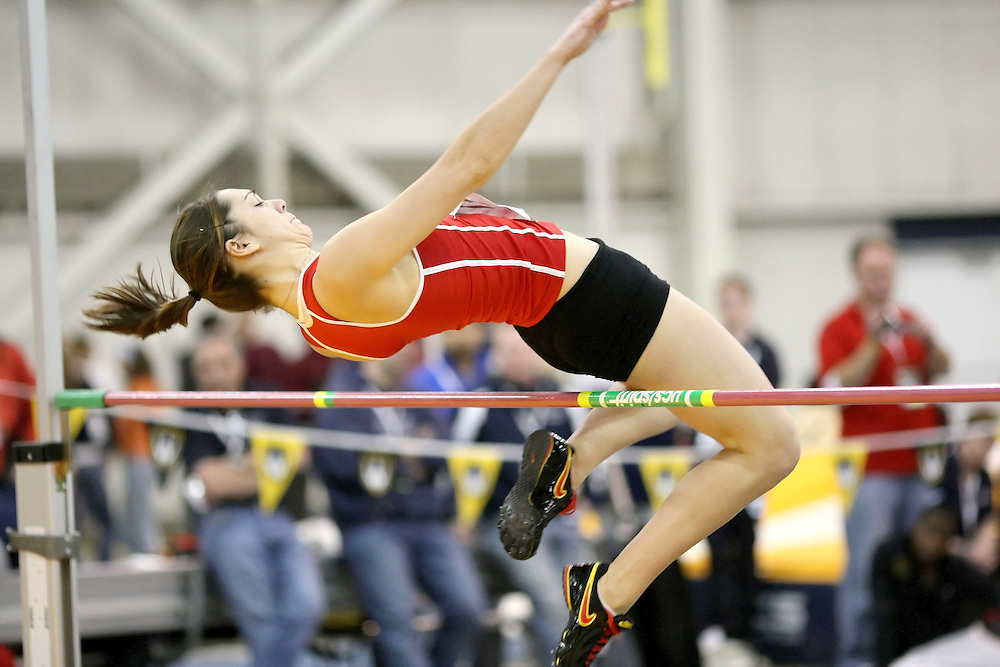 Windsor, Ontario ---12/03/09--- \cis york \ competes in the Women's Pentathlon High Jump at the CIS track and field championships in Windsor, Ontario, March 12, 2009..Sean Burges Mundo Sport Images