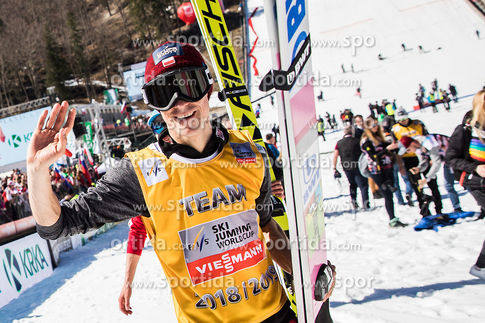 Piotr Zyla (POL) celebrates trophy ceremony after the 2nd round of the Ski Flying Hill Individual Competition at Day 4 of FIS Ski Jumping World Cup Final 2019, on March 24, 2019 in Planica, Slovenia. Photo Peter Podobnik / Sportida