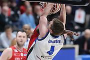 Jared Berggren, EA7 Emporio Armani Milano vs Germani Basket Brescia LBA serie A 4^ giornata di ritorno stagione 2016/2017 Mediolanum Forum Assago, Milano 12/02/2017