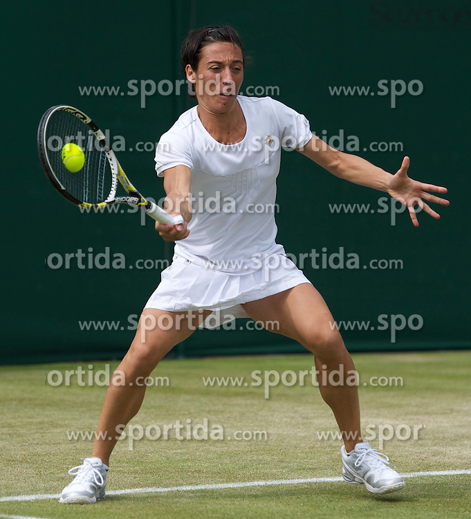 24.06.2011, Wimbledon, London, GBR, Wimbledon Tennis Championships, im Bild Francesca Schiavone (ITA) in action during the Ladies' Singles 3rd Round match on day five of the Wimbledon Lawn Tennis Championships at the All England Lawn Tennis and Croquet Club, EXPA Pictures © 2011, PhotoCredit: EXPA/ Propaganda/ *** ATTENTION *** UK OUT!