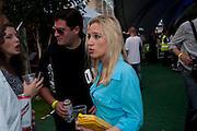 ZAFAR RUSHDIE; IMOGEN LLOYD-WEBBER, The launch of Nokia Skate Almighty 2009. Potters Fields. Tower Bridge. London. 5 August 2009.
