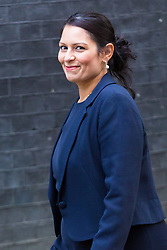 London, October 17 2017. International Development Secretary Priti Patel attends the UK cabinet meeting at Downing Street. © Paul Davey