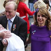 ITA/Parma/20120929- Doop prinses Luisa Irene, prins Carlos de Bourbon de Parme, partner, Annemarie Gualtherie van Weezel, dochter Luisa Irene