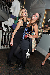 Left to right, LEAH DE WAVRIN and ALICE BRINKLEY at a carnival themed party hosted by Stacey Bendet for the Alice & Olivia fashion label at Paradise, Kensal Green, London on 9th November 2011